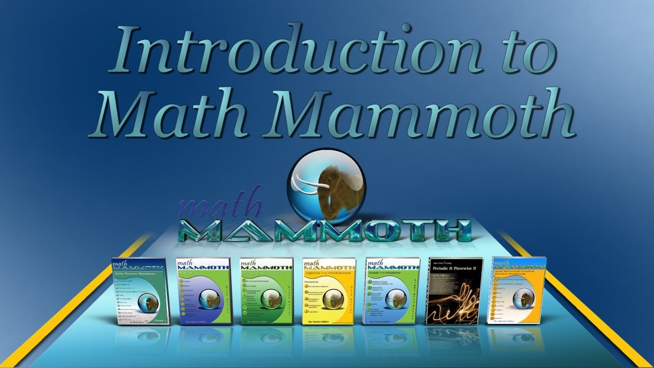 Which Math Mammoth books or materials should you choose?