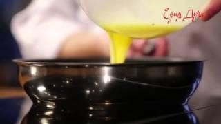 Видео рецепт о том, как правильно приготовить  классический омлет