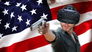 Visiting the VR Shooting Range! - America Simulator in VR! - Lethal VR Gameplay - HTC Vive VR