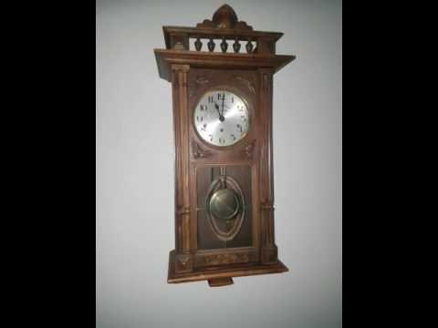 Antique German Kienzle Westminster chime wall clock YouTube