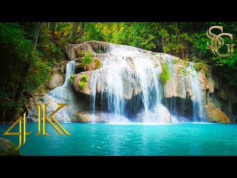 Picturesque waterfall   4K Ultra HD
