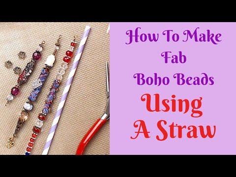 How To Make Fab Boho Beads Using A Straw