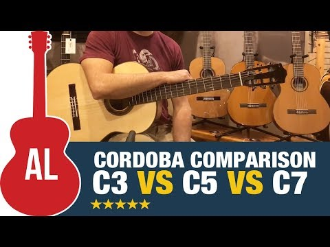 Cordoba C3M vs C5 vs C7 - Nylon String Comparison