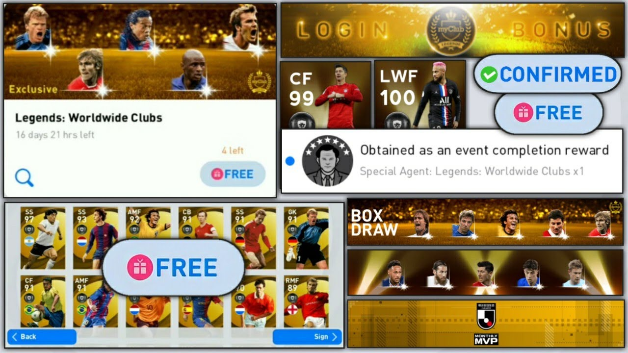 Free Legends,Monday's Gp Legends Draw Box Pes2021,Free Coins | What's Coming On Monday 2 August Pes