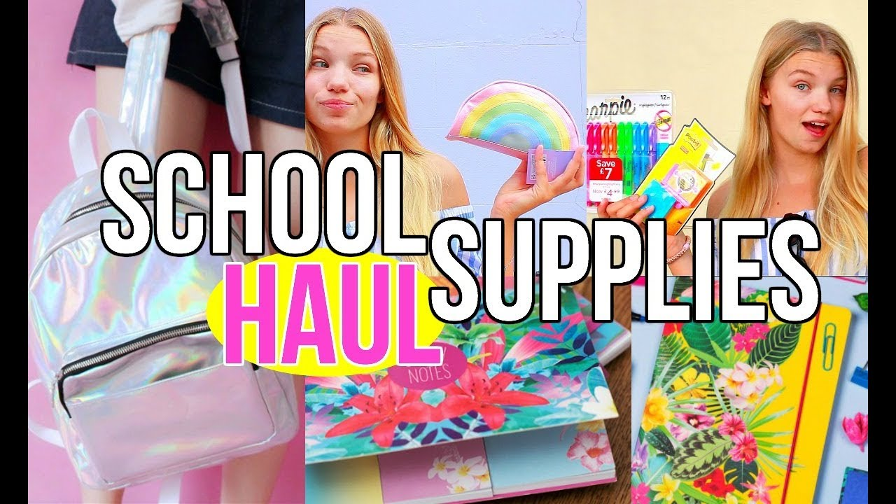 Back To School Supplies Haul 2017 Girly School Stationary For Teens