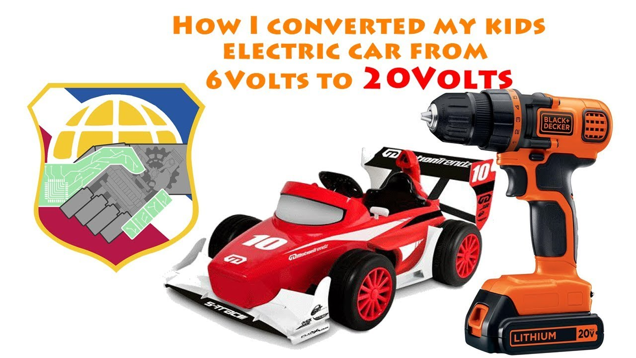 How I convert a 6V electric car into 20V - Motion Trendz Fisher-Price Power  Wheels