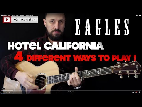 4 EASY WAYS TO PLAY HOTEL CALIFORNIA | THE EAGLES | SUPER EASY GUITAR