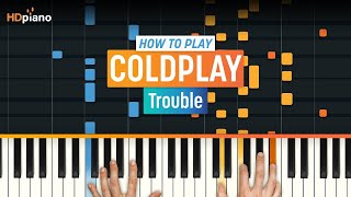 "How to play ""Trouble"" by Coldplay on Piano with Synthesia - Piano Tutorial"