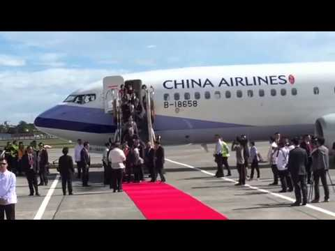 Taiwan ex-VP Vincent Siew arrives in Manila for Apec
