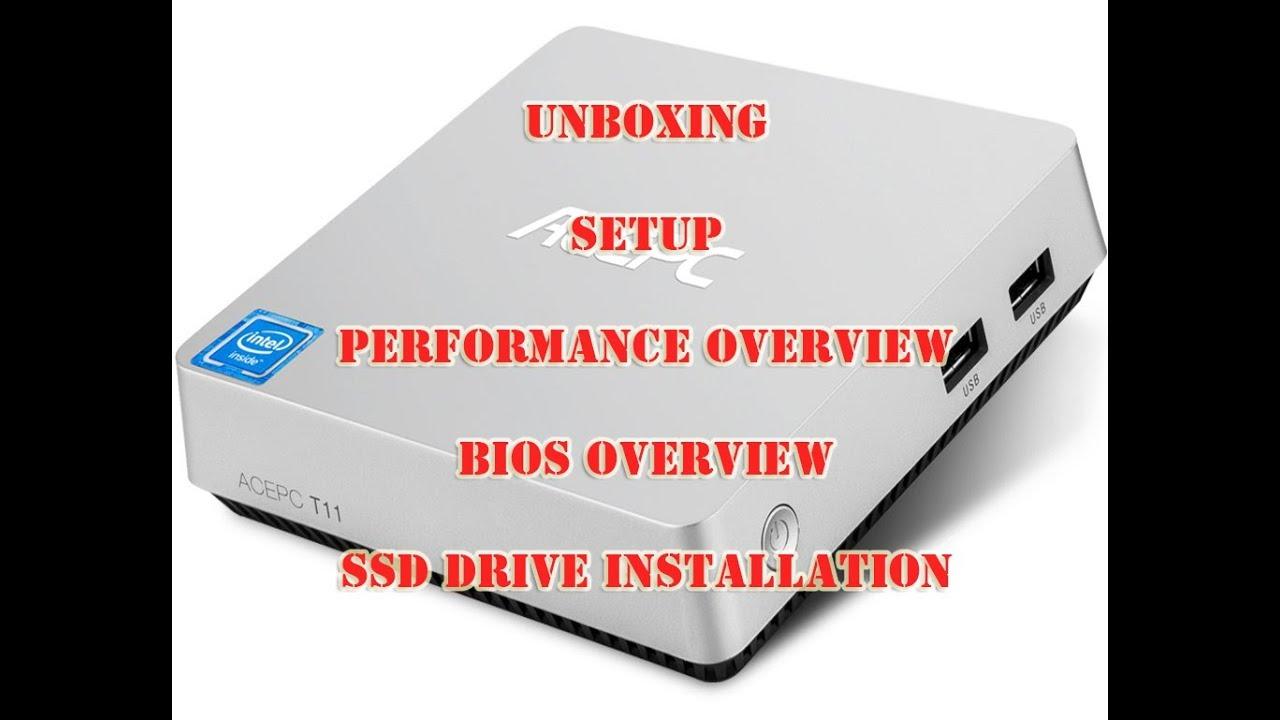 ACEPC T11 Intel x5-Z8350 1 9 GHZ Unboxing, setup quick review