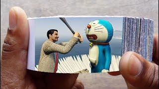 Mr. Bean Cartoon FlipBook #6 | Angry Bean Kills Sleeping Doraemon Flip Book | Flip Book Artist 2021
