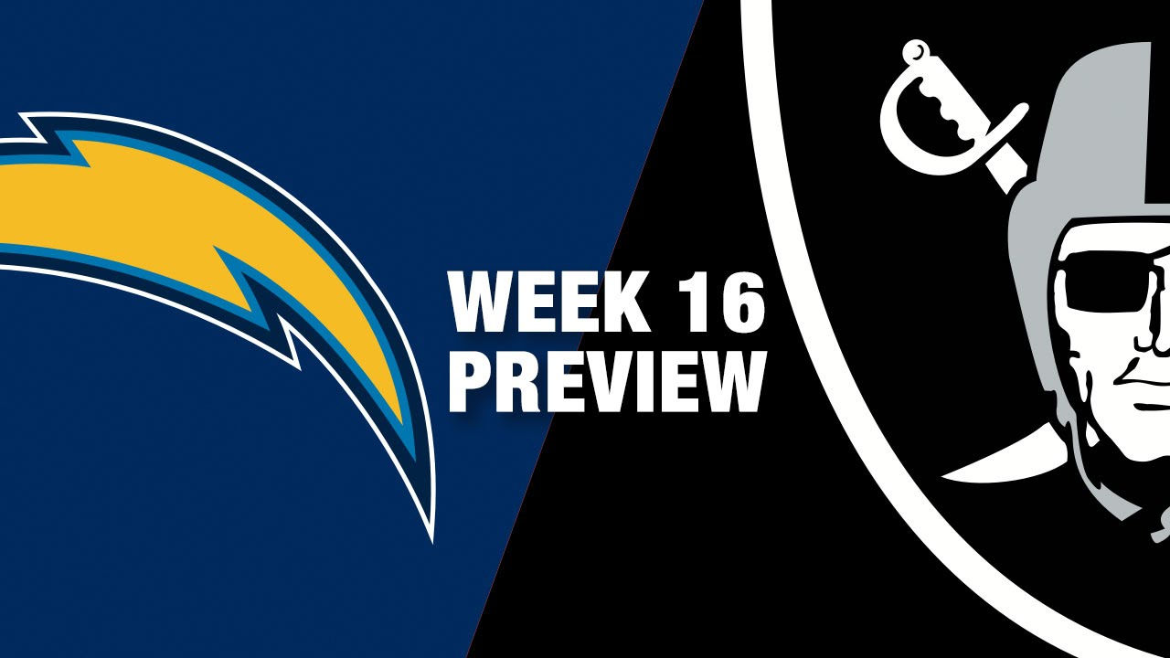 Chargers vs. Raiders Preview (Week 16) | NFL on Christmas Eve ...