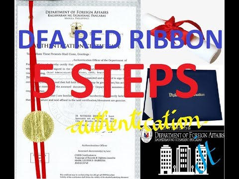 DFA Authentication Of Diploma And Transcript Of Records (red Ribbon)