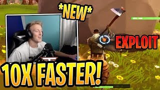 Tfue Uses *NEW* Fastest Farming Exploit! - Fortnite Best and Funny Moments