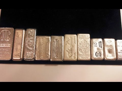 Poured Silver Bar Weight Comparison