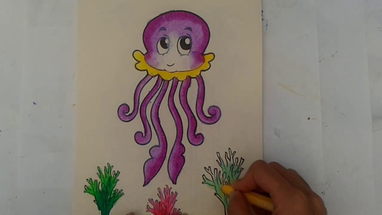 Mewarnai Gradasi Hewan Coloring Animal With Crayon For