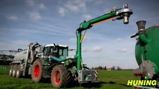 Huning Umwelttechnik bei der Gülleausbringung 2017 mit Fendt 930 Vario + Joskin Güllewagen