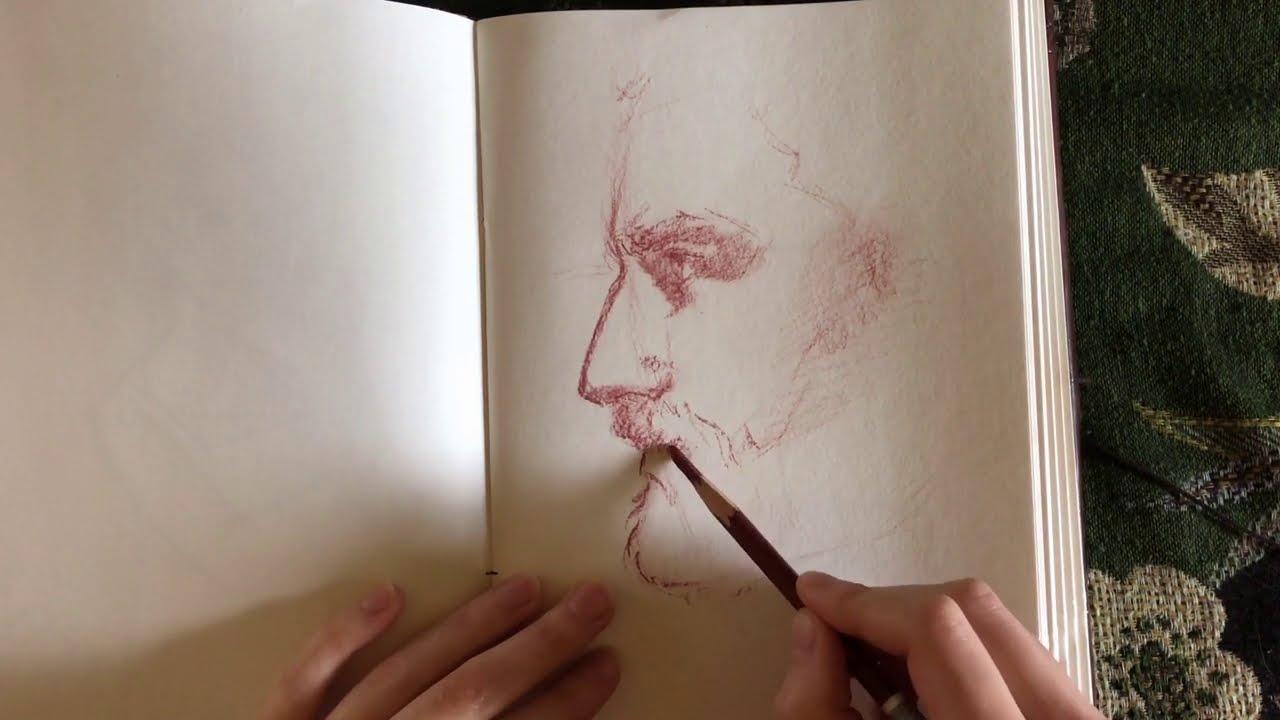 [ASMR] Sketchbook Drawing – no talking