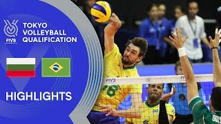 BULGARIA vs. BRAZIL - Highlights Men | Volleyball Olympic Qualification 2019