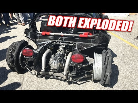 5th Gear, 165mph Burnout EXPLOSION (too far?)