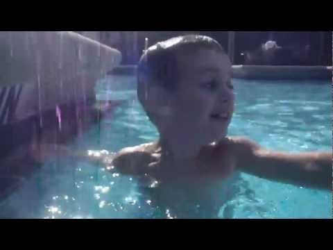 Three year old Tyler learns to swim with Jackie Nelson Doyle!