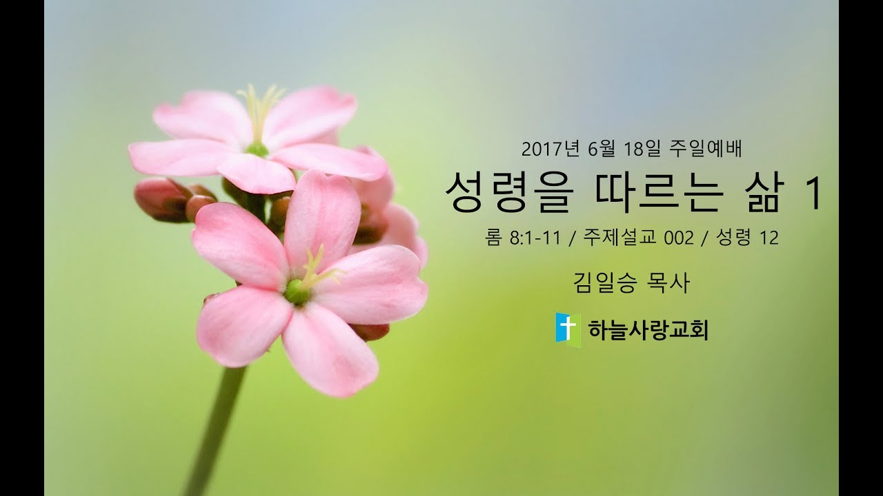주제설교 002 성령 12 8:1-11 성령을 따르는 삶 1