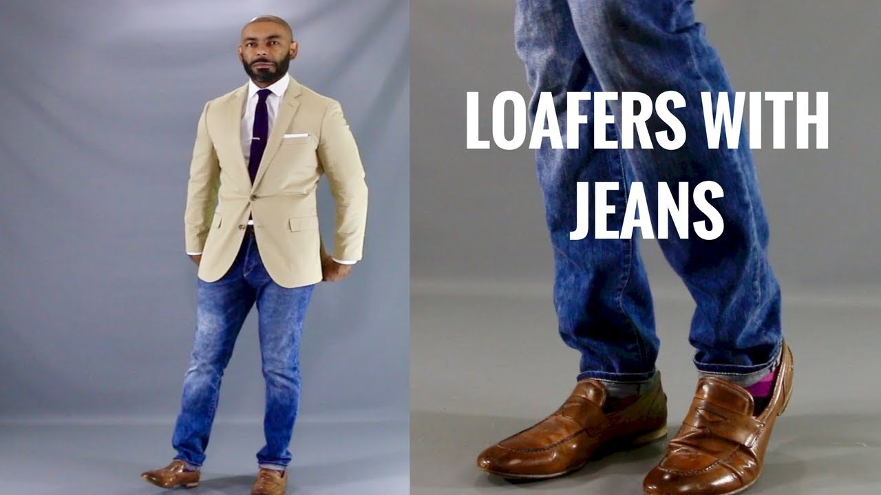 Men What Type Of Shoes To Wear With Denim