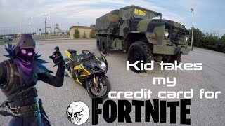 Kid Steals My Credit Card For fortnite