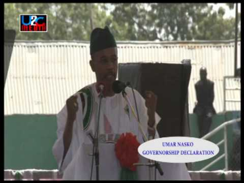 ALHAJI UMAR NASKO'S SPEECH AT HIS CAMPAIGN RALLY IN MINNA, NIGER STATE.