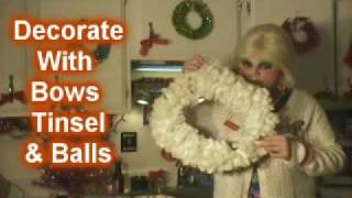 Dryer Sheet Wreath : Merry Trailer Park Christmas Craft