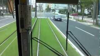路面電車 鹿児島市電唐湊線 加治屋町~高見馬場付近