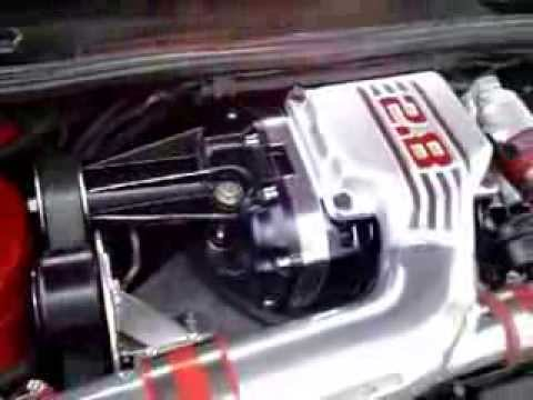 VR6 M90 with new black supercharger - YouTube