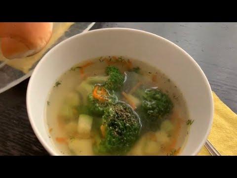 Детский овощной Суп . Суп с кабачком и брокколи . Рецепт легкого картофельного овощного супа