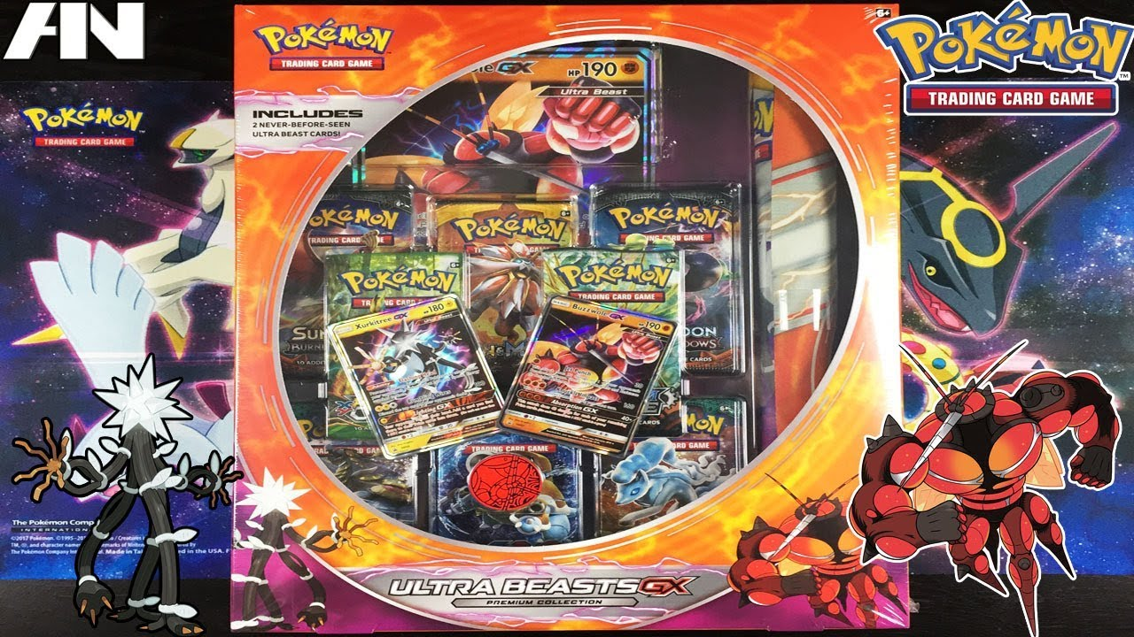 Pokemon Ultra Beasts GX Premium Collections,Featuring Buzzwole and Xurkitree