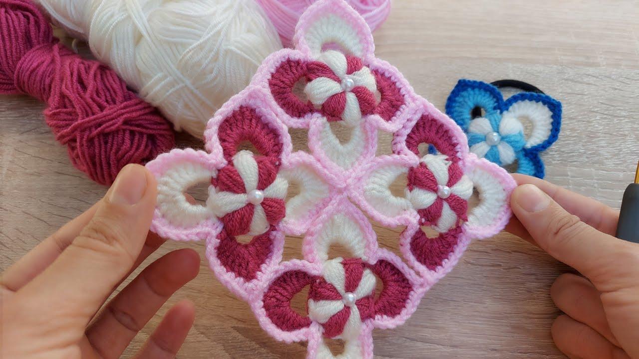 How to crochet model 😍 tığ işi kolay örgü battaniye yatak ortusu kırlent  vb. modeli