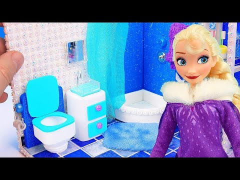 DIY Miniature Frozen Bedroom and Bathroom