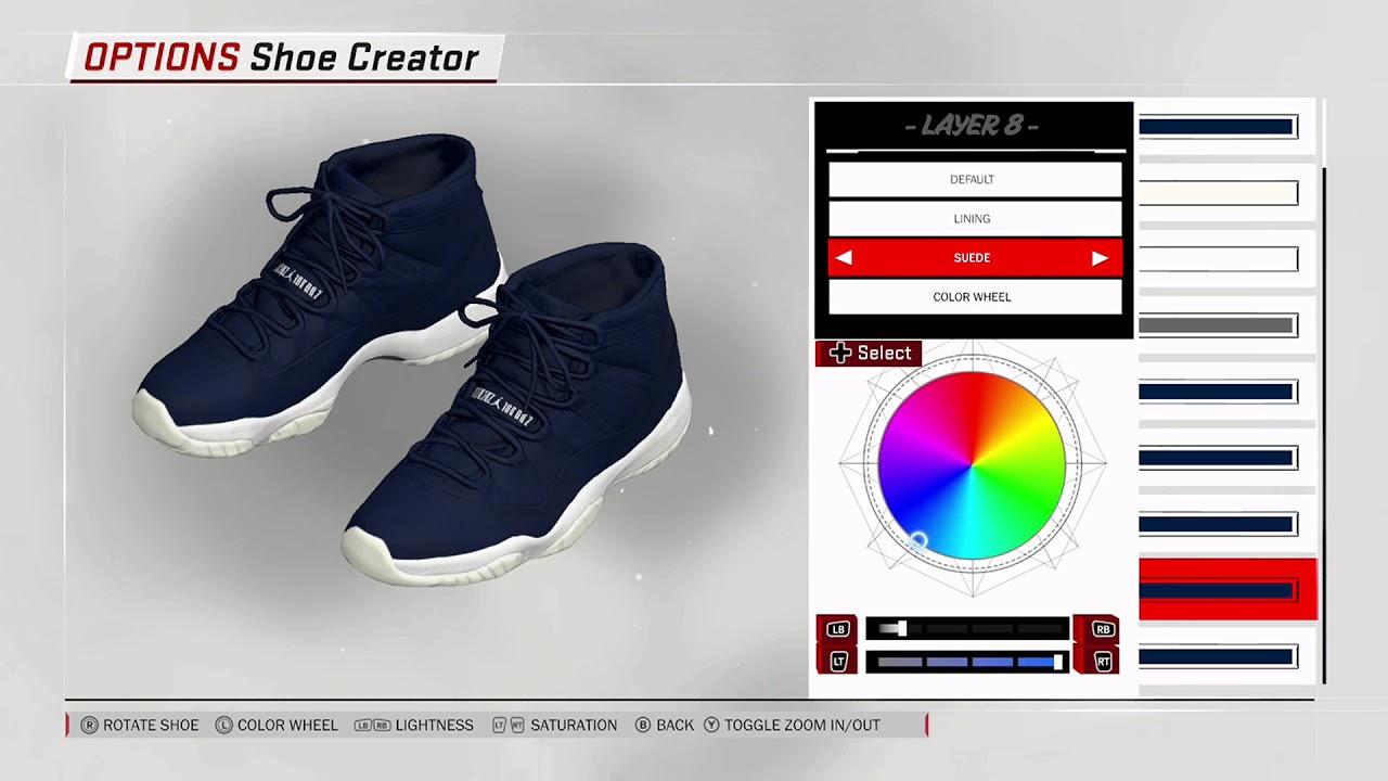 694b17534af NBA 2K18 Shoe Creator - Air Jordan 11 PE