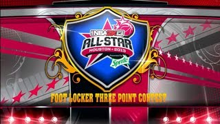 NBA 2K13 MyCAREER - Foot Locker Three Point Contest | Who Is The Best? At The 2013 All-Star Weekend