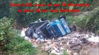 La carretera más mortal de Colombia.The most deadly road in Colombia.