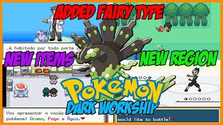 Completed Pokemon Dark Workship Gba Rom Hack With New Region,new graphics and More!