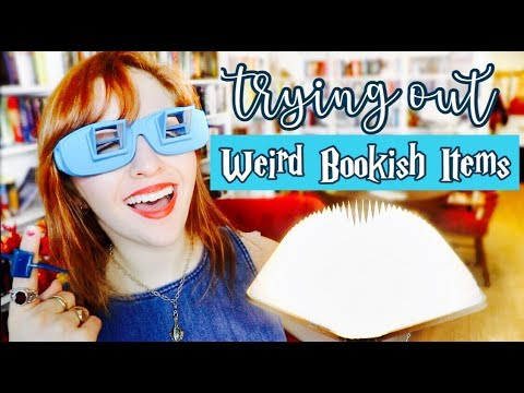 TRYING WEIRD BOOKISH ITEMS