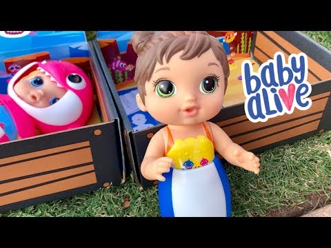 Baby Alive Baby Shark dolls by hasbro new water play dolls