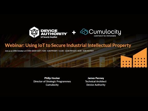 Device Authority + Cumulocity: Using IoT to Secure Industrial Intellectual Property