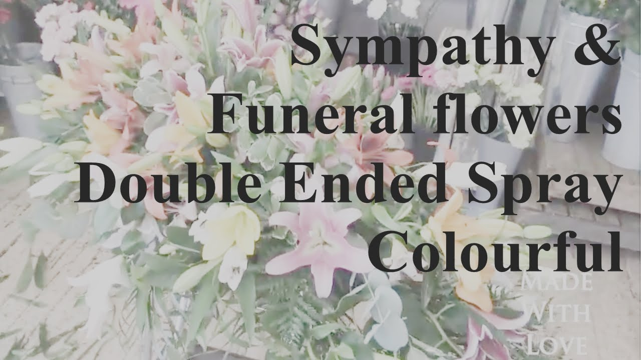Double ended funeral sympathy spray colourful by lily blossom double ended funeral sympathy spray colourful by lily blossom florists lily blossom florist izmirmasajfo Images