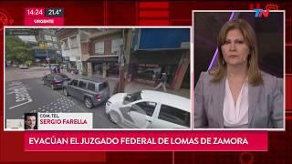 Evacuan el Juzgado de Lomas de Zamora por amenaza de bomba