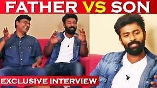 shanthnu bhagyaraj exclusive father and son funny interview