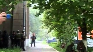 Силы нацгвардии украины и штурм УВД Мариуполь 9 05 2014 как это было