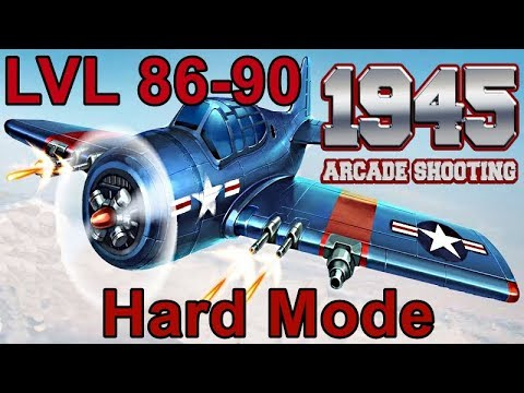 1945 Air Forces / Arcade Shooting / Hard Mode / LVL 86-90 / All Bosses
