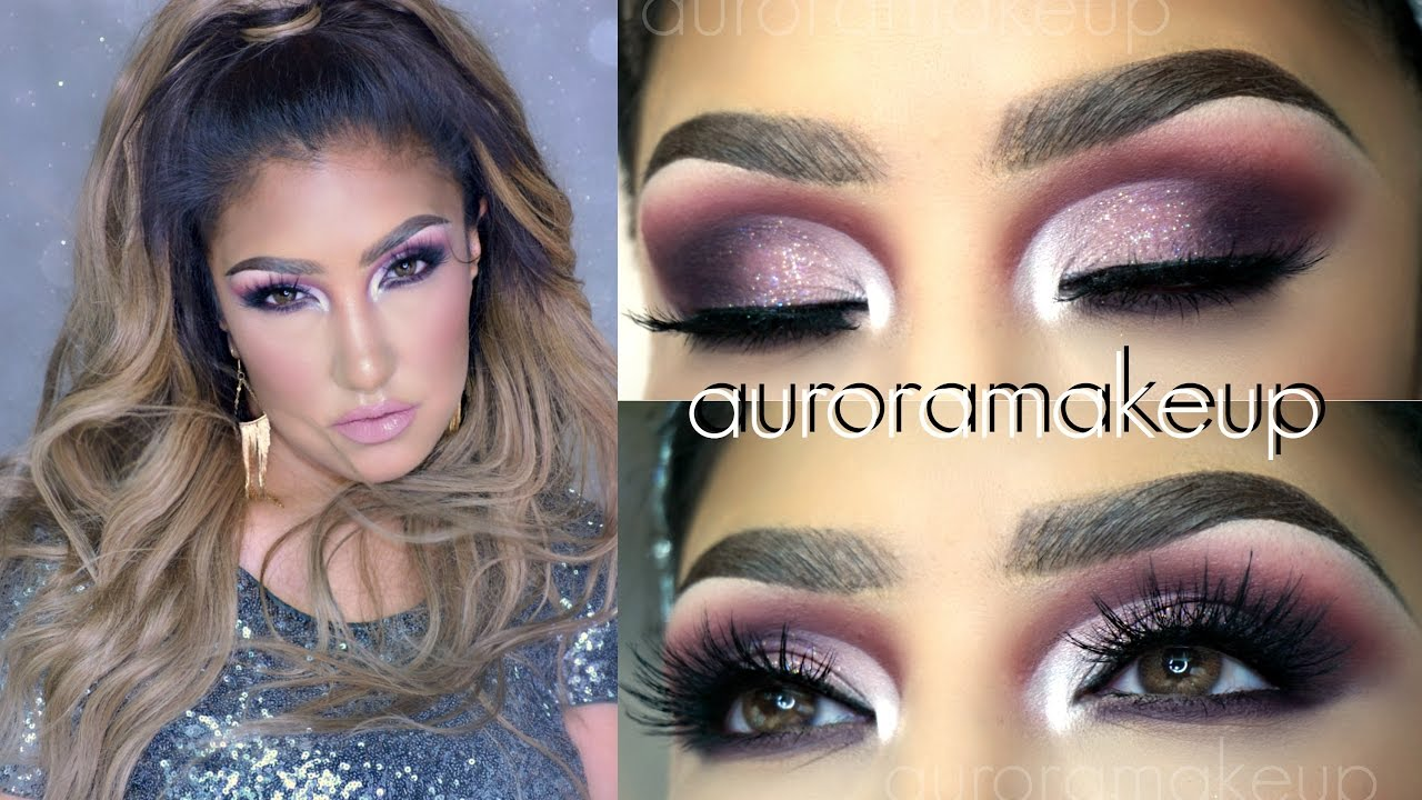 Maquillaje de FIESTA rosa malva / Half Cut Crease party makeup tutorial | auroramakeup