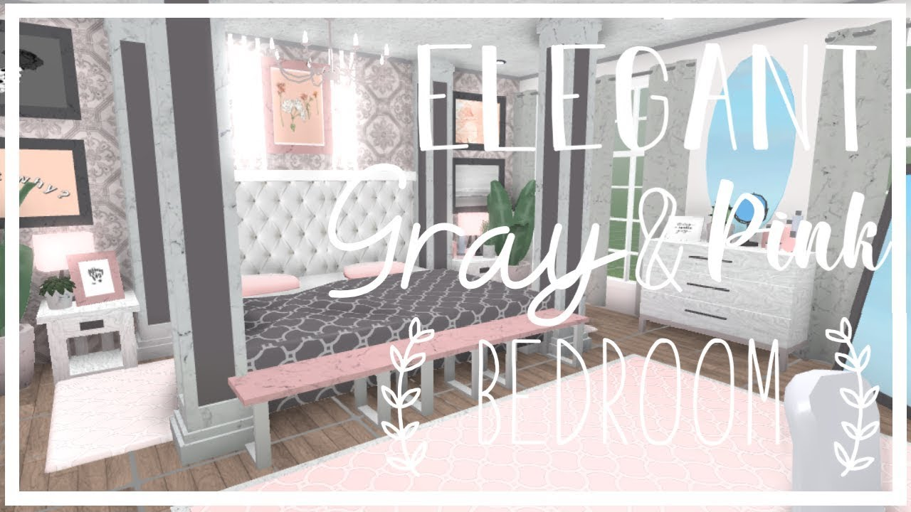 ROBLOX | Bloxburg : Elegant Gray & Pink Bedroom